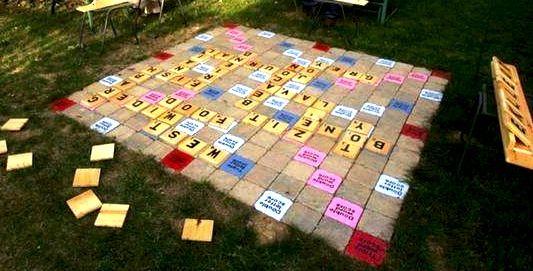 Backyard Scrabble Board Backyard Fun Backyard Games Backyard