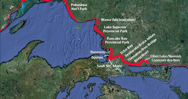 Map of the Voyageur Trail | Pukaskwa and Superior ...