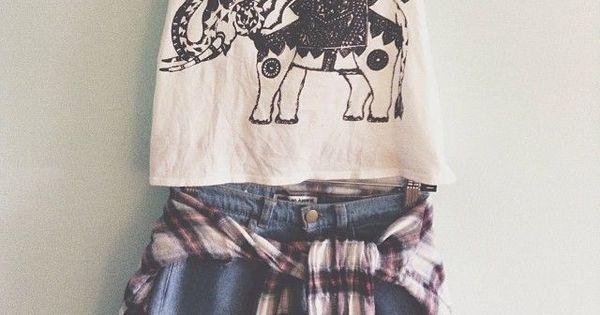 top denim crop tops cute cute outfits plaid denim shorts plaid shirt