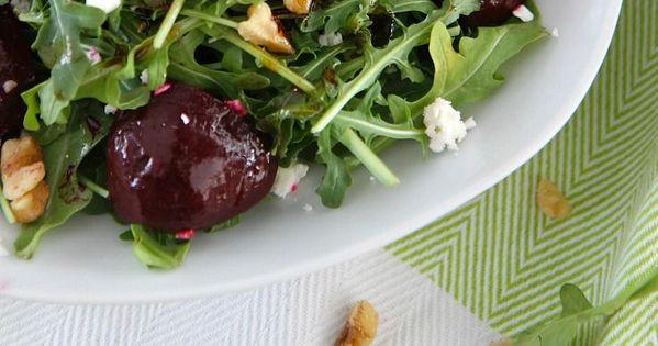 Balsamic Beet Salad with Arugula and Goat Cheese | Recipe | Vegetarian ...