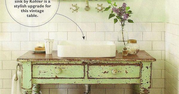 rustic home decor | Rustic bathroom idea | Home Decor. Love the