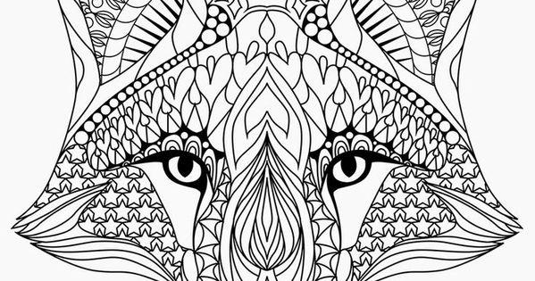 Cara de raposa desenho para pintar