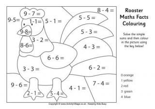 Chinese New Year Maths Facts Colouring Page Atividades De