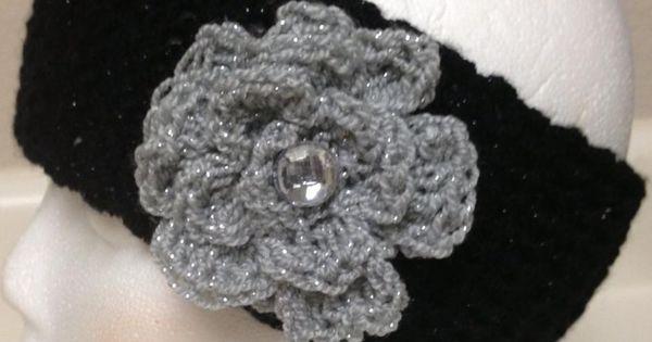 Crochet Braids Oakland : Oakland Raiders Sparkle Crochet Headband Crochet - Hats, Scarfs ...
