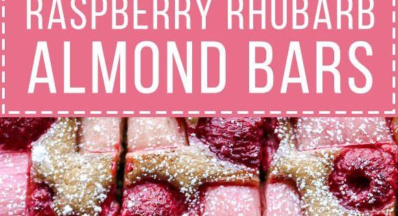 These Raspberry Rhubarb Almond Bars have an crisp almond ...