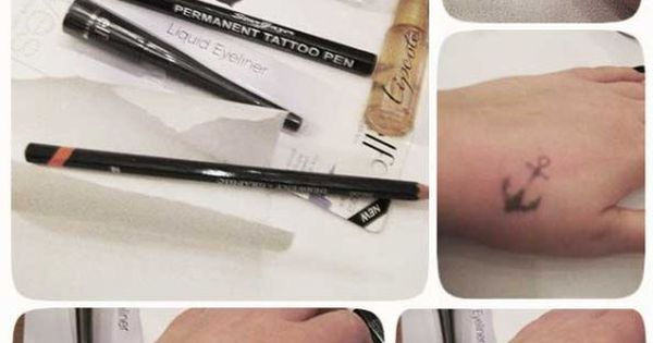 DIY fake tattoo- wear a tattoo that you want for a while to make sure you actually like it Hey T! This is a cool idea.