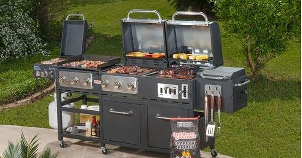 Outdoor Summer Patio 7 Burner Propane Charcoal Grill Griddle And Smoker Combo Best Charcoal Grill Charcoal Grill Grilling