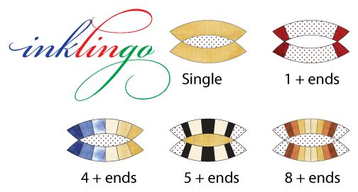Inklingo Double Wedding Ring Collection Print Dwr