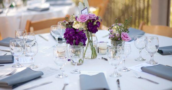 Pretty Tablescape Gray Napkins White Table Linens