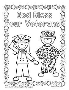 Veteran S Day Bible Printables Veterans Day Coloring Page Veterans Day Activities Memorial Day Coloring Pages