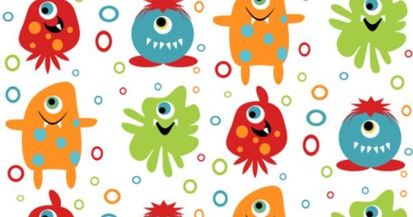 Jumping bean monster fabric fabric by tracydw70 on for Monster themed fabric