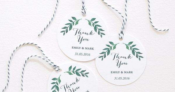 circle gift tag template - watercolor wedding baby shower thank you tags favor tags