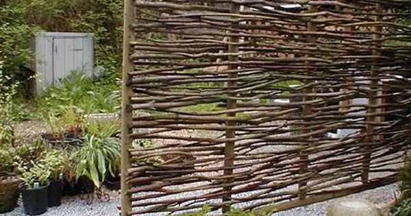 Made from branches, this can be used as a lovely screen, trellis,