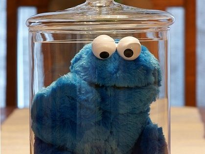 Cookie monster in the cookie jar - cute idea for a birthday