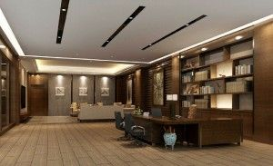 Minimalist Design For Ceo Office Suspended Ceiling Arsitektur