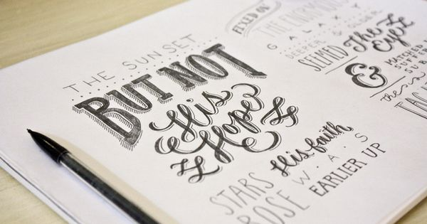 molly jacques | SKETCH BOOK I LOVE mixing fonts!