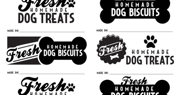 adorable labels for when you make your own dog biscuits