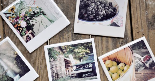 DIY Polaroid style photo coasters