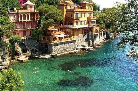 I will live here one day! ... Seaside Houses, Portofino, Italy