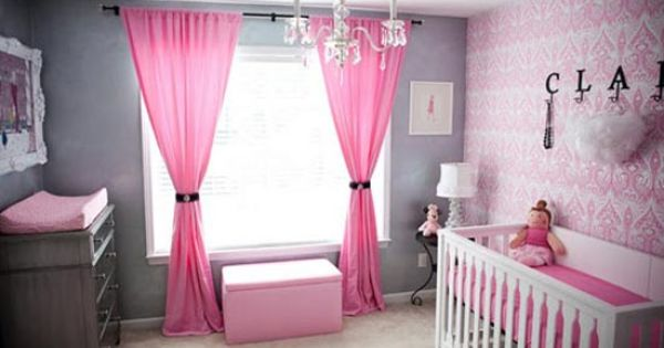 Love the color scheme. Baby girl nursery