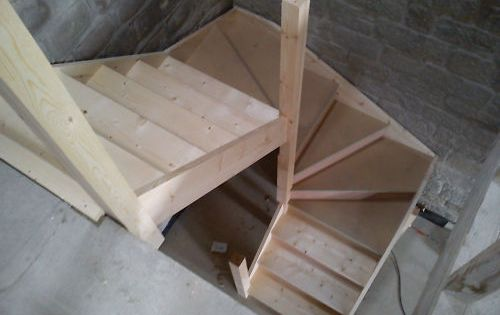 Kite Winder Staircase Made To Measure Hard Softwood Ebay