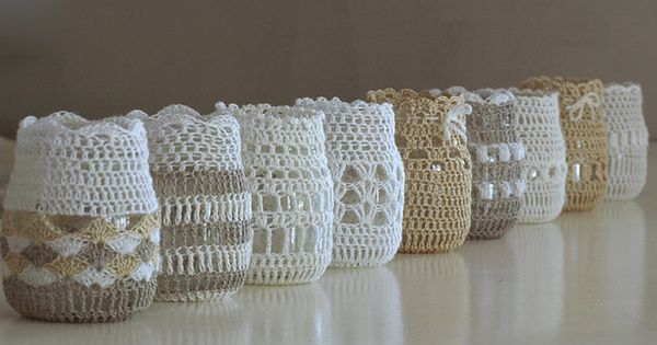 Crochet jar covers - no pattern, just inspiration and 50 Ways to