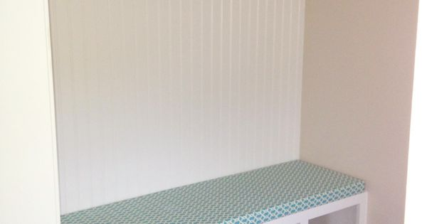 No Sew Bench Cushion And Shelf Liners I Made The Mudroom