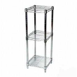 8 Depth Chrome Wire Shelving Unit With 3 Shelves The Shelving And Storage Store By Shelving Inc Wire Shelving Wire Shelving Units Chrome
