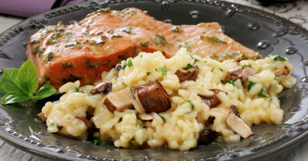Mushroom & Onion Risotto | Vegetables | Pinterest | Baked Mushrooms ...