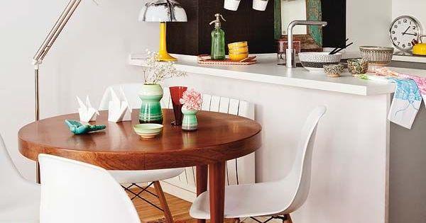 Ideas para decoracion y organizacion de espacios peque os for Comedores modernos para casas pequenas