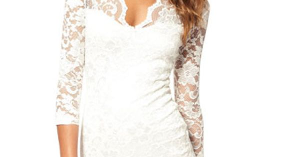 Lacy White Dress This Would Be A Totally Cute Dress For