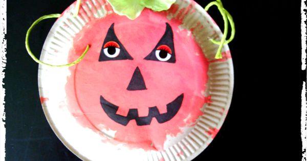 citrouille dhalloween, peinture enfant  Halloween  Pinterest