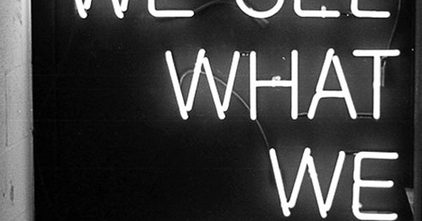 We see what we want | Black & white | Pinterest