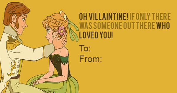Haha, this would totally be my Valentine card! OP: Hans from Frozen
