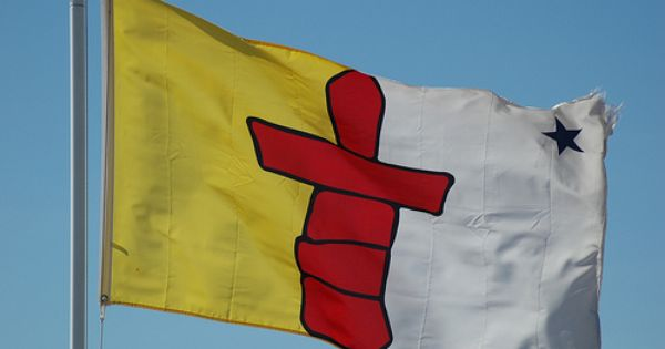 Nunavut Flag Nunavut Canadian Pride Canada Tourist