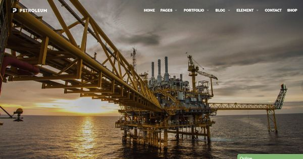 35 Best Industrial Wordpress Themes 2017 Big Oil Oil Rig Offshore