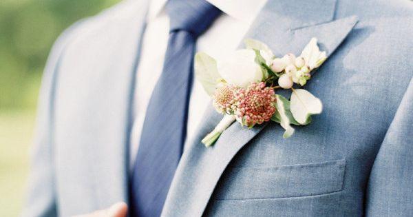 Pretty Groomsmen suit color. Photography: Jen Huang Photography - jenhuangphotography.com Floral Design: