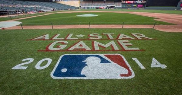 Sneak Peek At The Field Logo At Target Field For The All Star Game Minnesota Twins Baseball Twins Baseball Feeling Minnesota