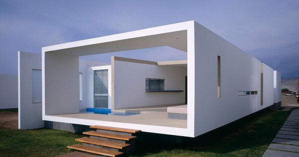 Boxy granny flat/studio inspo. Boxy, white, relaxing outdoor area, modern, touches with