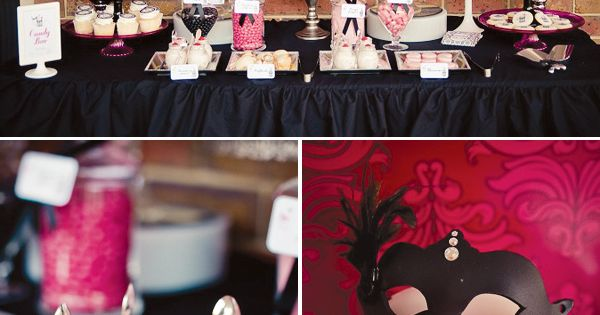 Cute party idea! Chic Masquerade Inspired 40th Birthday Party