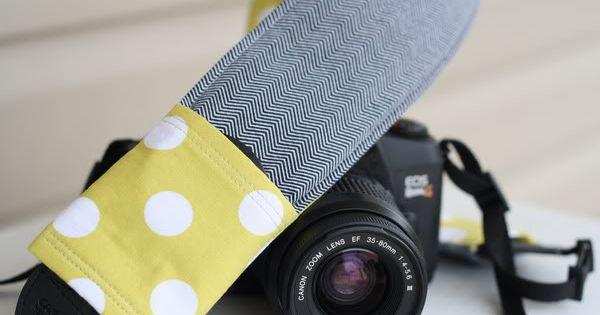 magpie and cake: 4 Fabric Camera Strap DIY Tutorials