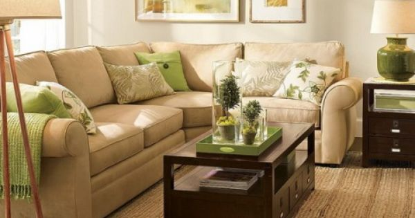 28 green and brown decoration ideas brown living rooms for Green and beige living room ideas