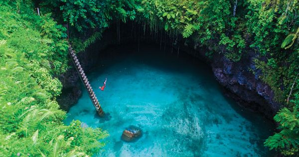 my favorite place :) To Sua Ocean Trench