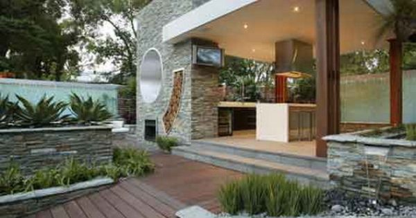 Outdoor kitchens great jard n pinterest casa de for Cancion el jardin
