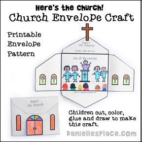 Here S The Church Bible Craft For Children From Www Daniellesplace