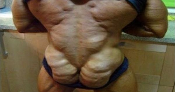 Muscular buttocks. This is why I don't work out. Yeah