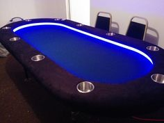 Diy Lighted Raised Rail Poker Table Poker Table Plans Poker Table Folding Poker Table