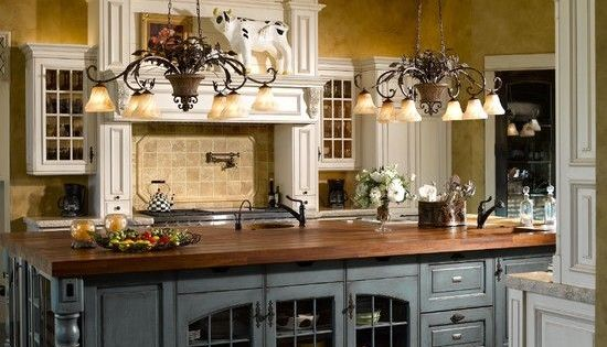 Extra Large Kitchen Island With Glass Enclosed Storage And