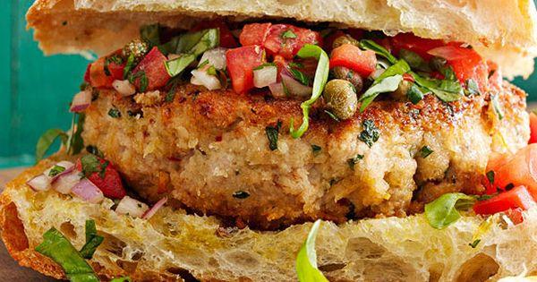 Sicilian-Style Tuna or Swordfish Burgers  http://www.rachaelraymag.com ...
