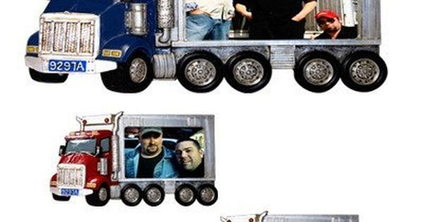 Semi Truck Photo Frame With Images Semi Trucks Truck Gifts
